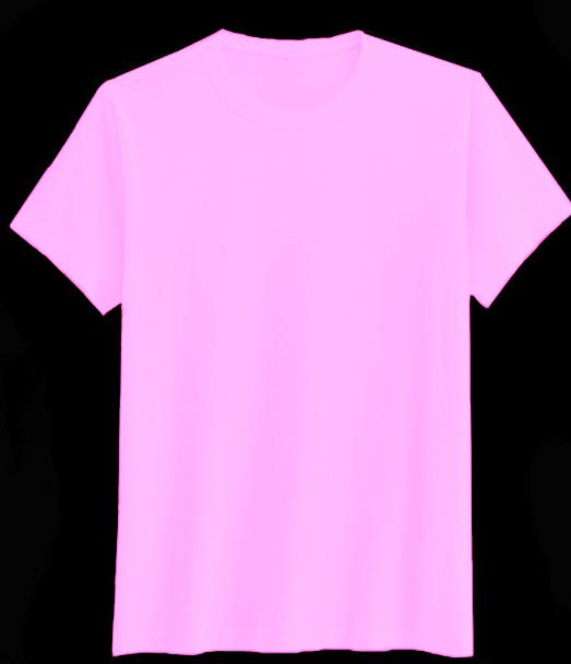 เสื้อสีพื้นไม่สกรีนคอกลม สีชมพูอ่อน