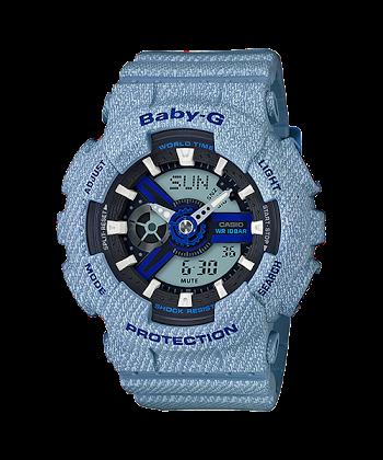 นาฬิกา BABY-G G-SHOCK CASIO สียีนส์ DENIM'D COLOR รุ่น BA-110DE-2A2 SPECIAL COLOR ของแท้ รับประกันศูนย์ 1 ปี