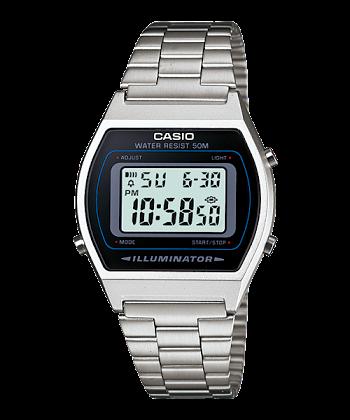 นาฬิกา CASIO ดิจิตอล สีเงินสายสแตนเลส รุ่น B640WD-1 STANDARD DIGITAL ของแท้ รับประกันศูนย์ 1 ปี