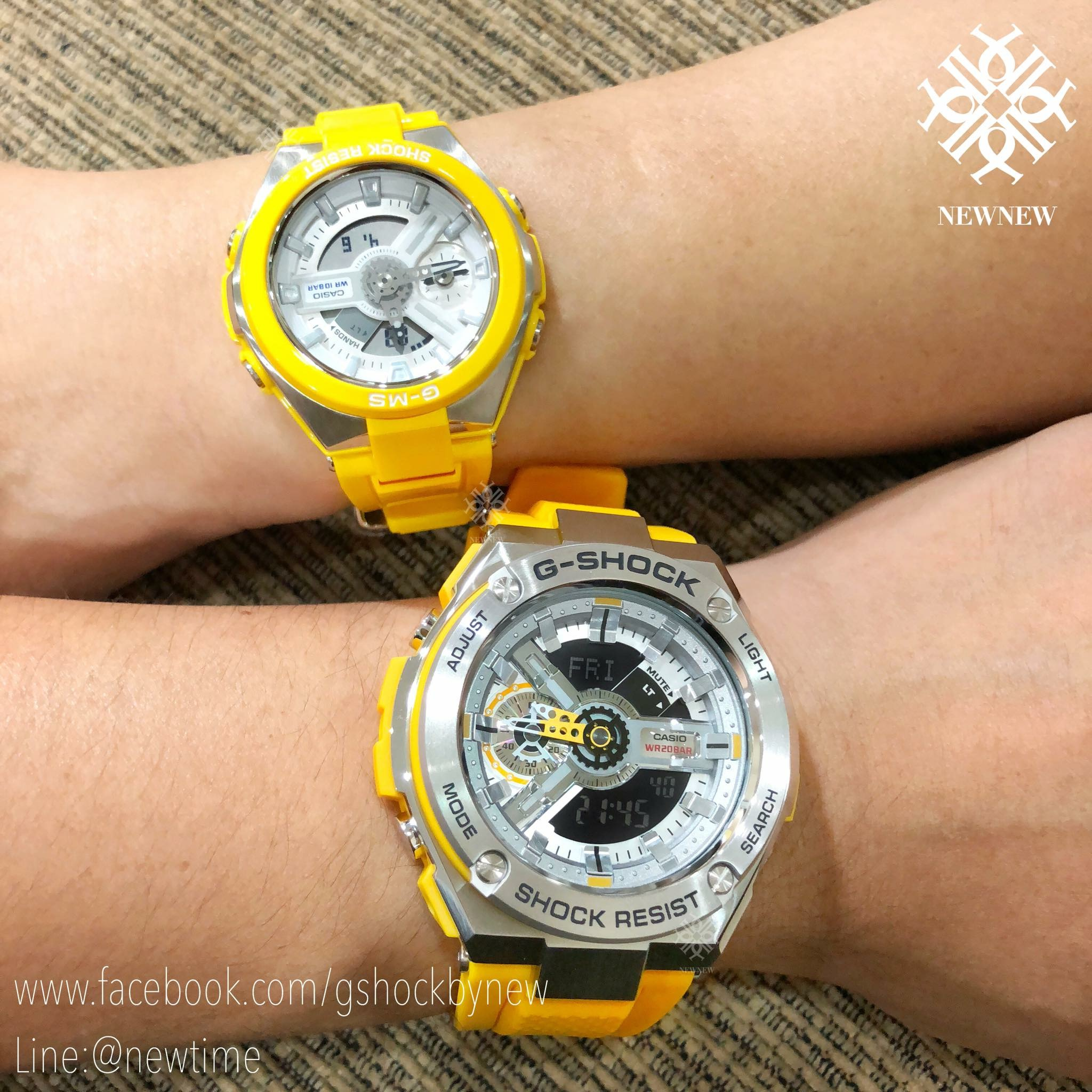 นาฬิกา Casio G-SHOCK x BABY-G คู่เหล็กSteel เซ็ตคู่รัก G-STEEL x G-MS series รุ่น GST-410-9A x MSG-400-9A Pair set ของแท้ รับประกันศูนย์ 1 ปี