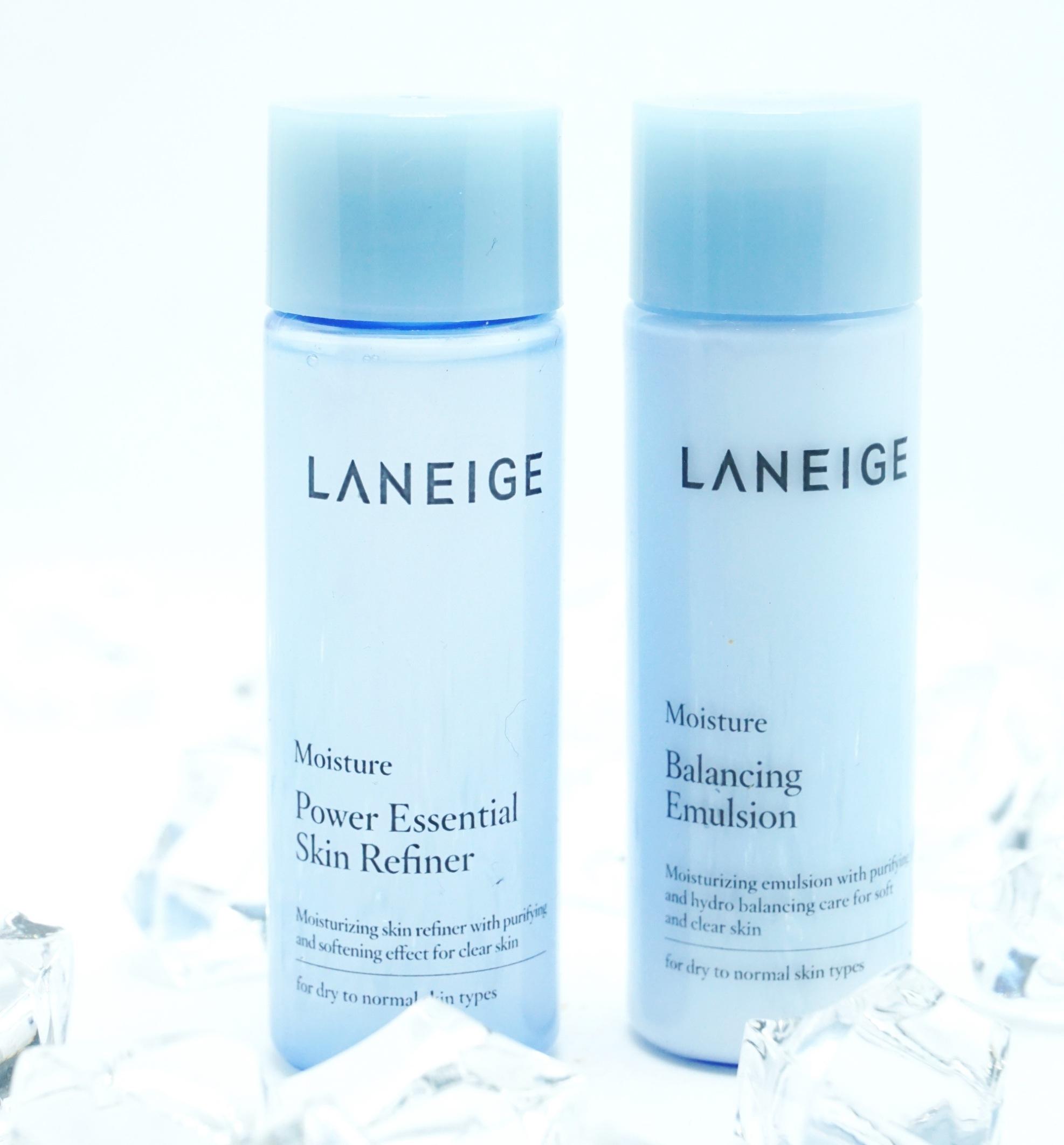 Laneige Power Essential Skin Refiner Moisture+LANEIGE Power Essential Skin Refiner Moistureขนาดทดลอง 25ml. เซทบำรุงสำหรับสาวผิวขาดน้ำต้องการให้ผิวหน้านุ่มชุ่มชื้น #LANEIGE Balancing Emulsion Moisture ขนาด 25ml อิมัลชั่นมอยส์เจอร์ที่มอบความชุ่มชื่นล้ำลึกให