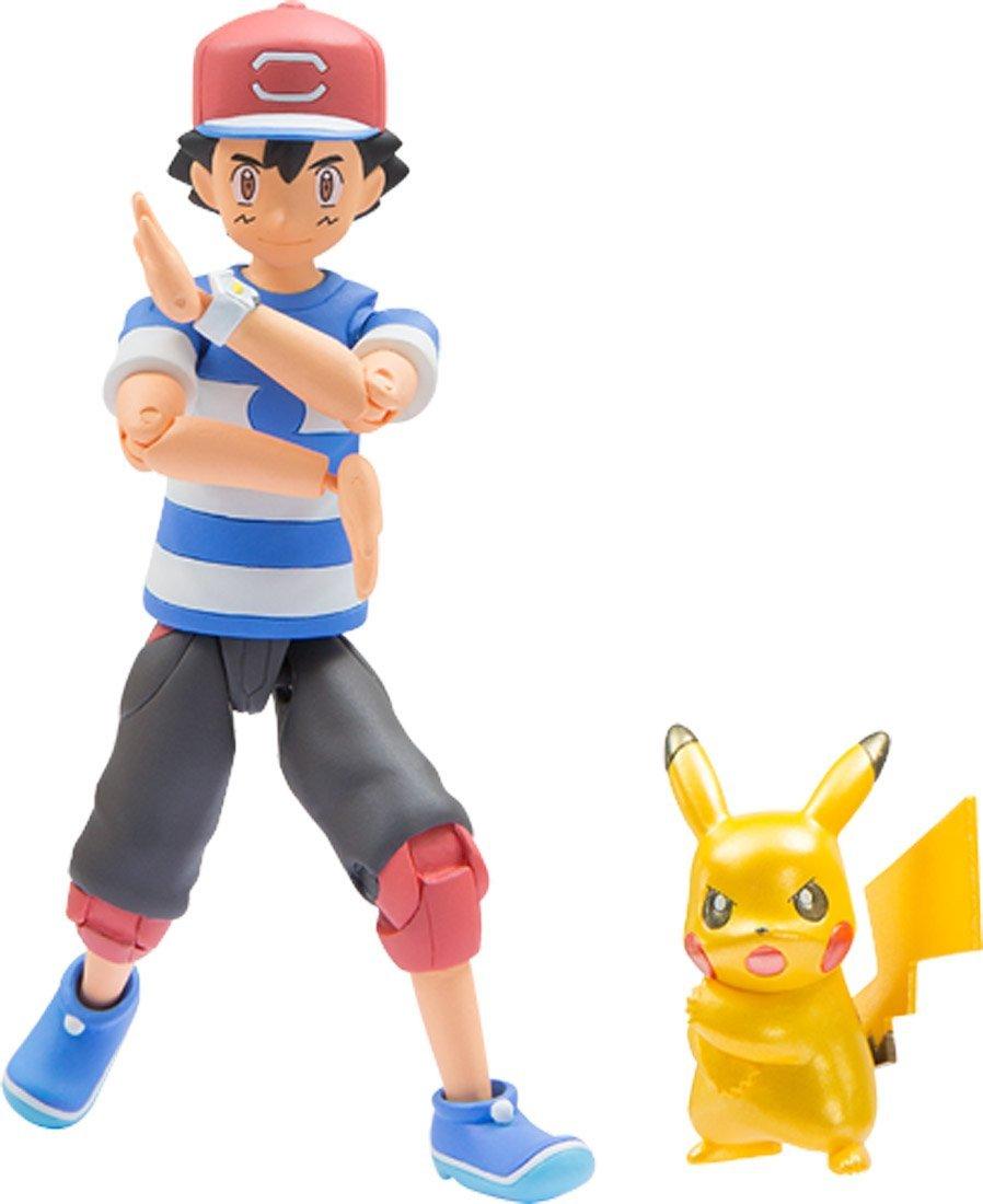 Satoshi & Pikachu ของแท้ JP - Takara Tomy Moncolle EX [โมเดลโปเกมอน] (ซาโตชิ ขยับได้)
