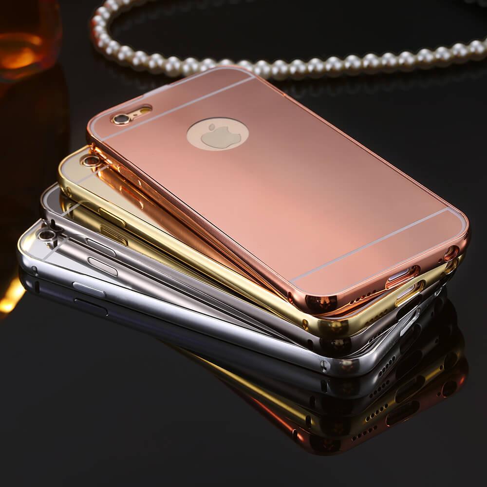 เคสอลูมิเนี่ยมกระจก สำหรับไอโฟน 6, 6s (หน้าจอ 4.7 นิ้ว) - Luxury Aluminium Mirror Utra Slim Case for iPhone 6, 6s (4.7 inch)