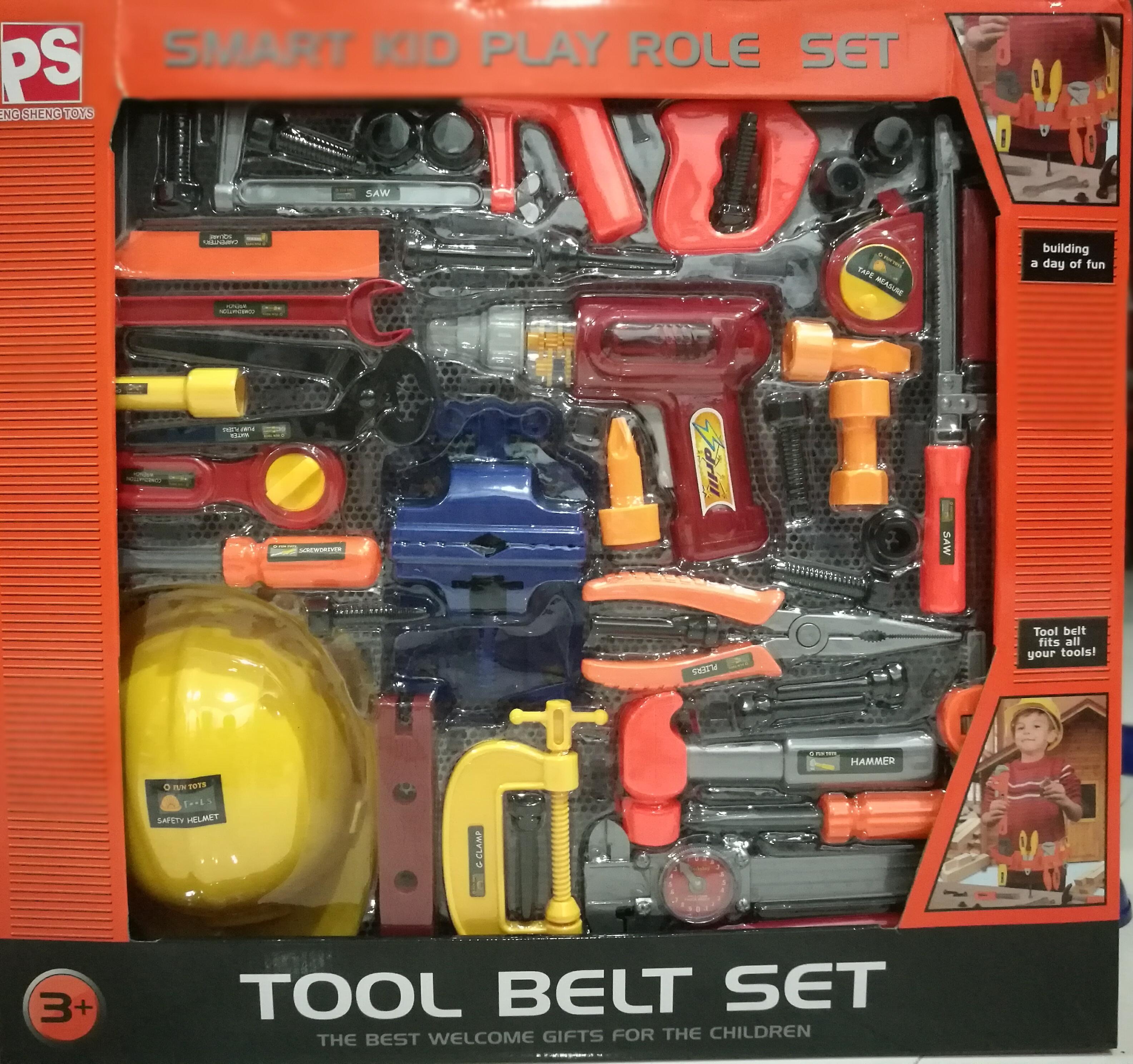 ชุดเครื่องมือช่่าง Tool belt set กล่องใหญ่ อุปกรณ์ 42 ชิ้น ส่งฟรี (ขายดีมาก)