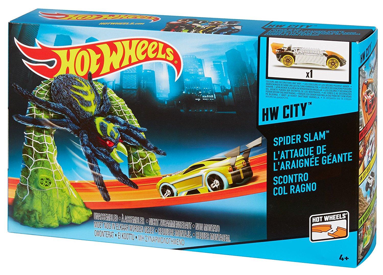 รถ Hot Wheels Blast the Spider Track Playset ส่งฟรี