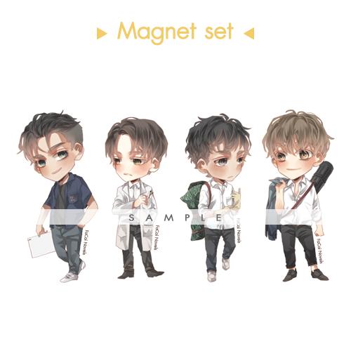 [Pre-Order] Magnet set (เฉพาะท่านที่ซื้อ Special Set หรือ มหาลัยเดอะซีรีส์ เท่านั้น)