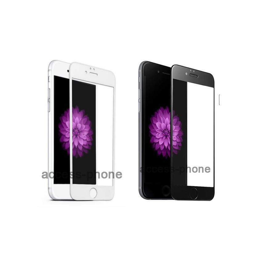 P-one ฟิล์มกระจก iPhone 6 Plus/ 6s Plus เต็มจอ สีขาว,สีดำ