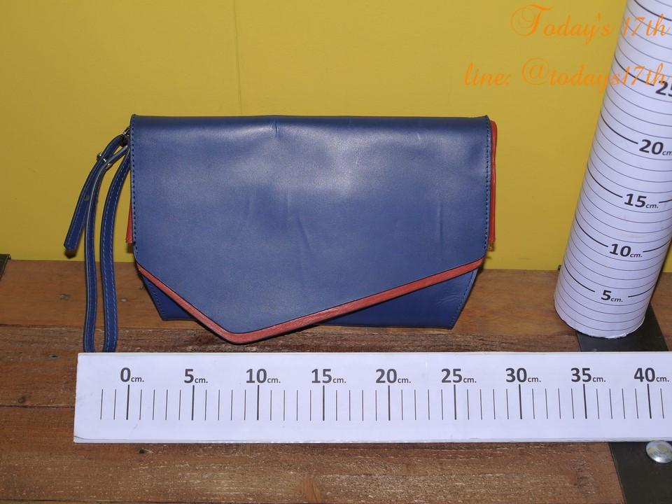 กระเป๋าคลัทช์หนังแท้ ZARA