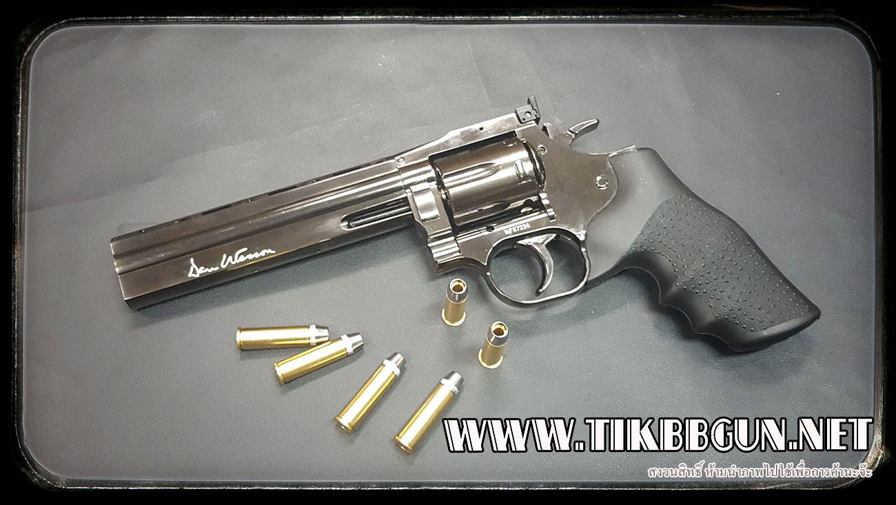 ปืนอัดลม แบบลูกโม่ WINGUN 6นิ้ว รุ่น 715 สีดำรุ้ง สวยดีครับ DanWatsan