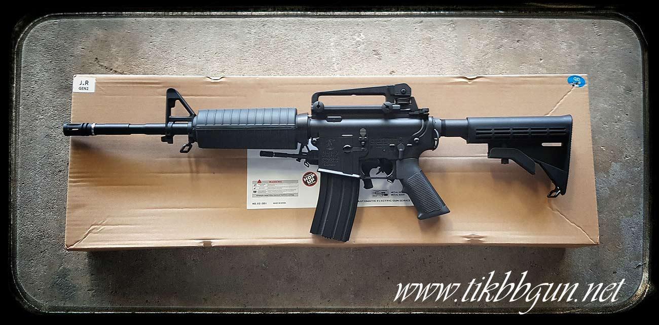 ปืนอัดลมไฟฟ้า M4A1 จาก E C รุ่น EC301S