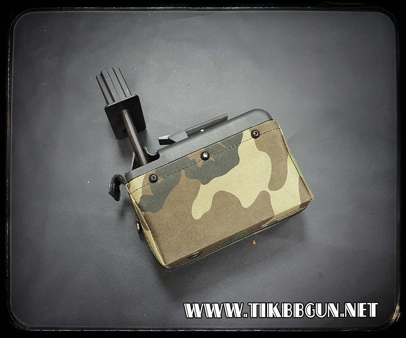 แม๊กหม้อแบบเล็กสำหรับปืนยาวตระกูลM249 แบบไฟฟ้า