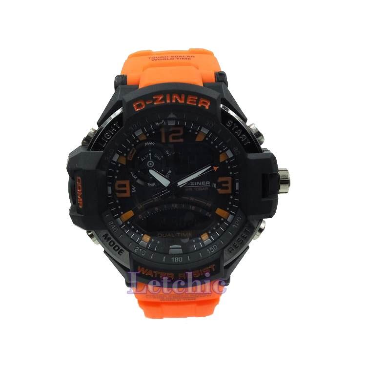 นาฬิกา D-Ziner Sport watch รุ่น DZ-8067A นาฬิกาข้อมือ unisex สีส้มดำ ของแท้ รับประกันศูนย์ 1 ปี ราคาพิเศษ ราคาถูกที่สุด