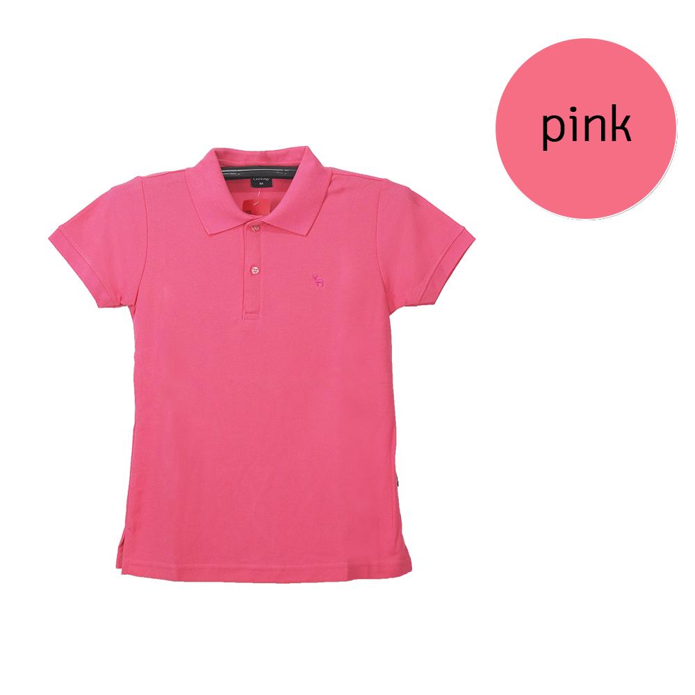 เสื้อโปโลหญิงสีชมพู