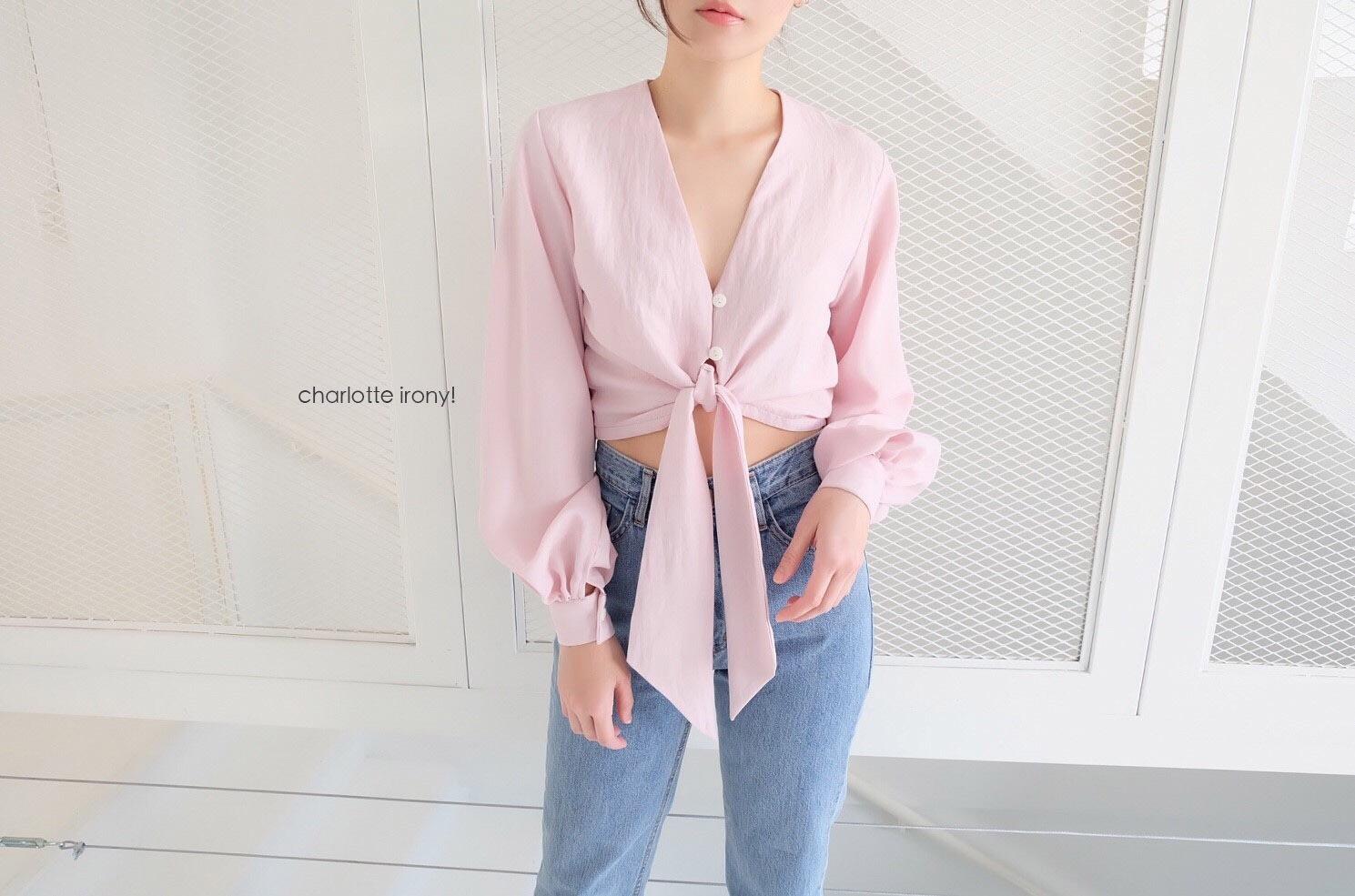 เสื้อเชิ้ตแฟชั่นสีชมพู