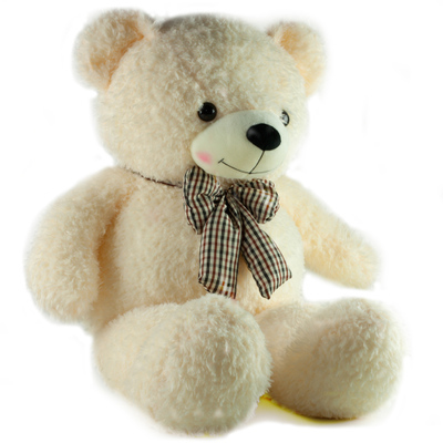 หมอนผ้าห่มแยกชิ้น ตุ๊กตาหมี สีขาว