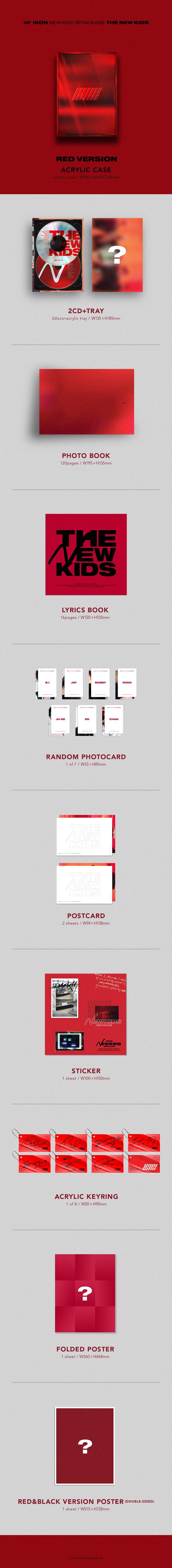 iKON - NEW KIDS REPACKAGE Album [THE NEW KIDS] หน้าปก RED Ver