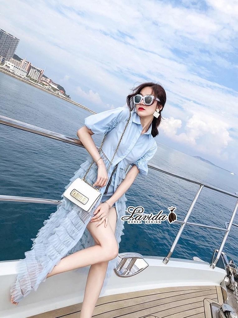 เสื้อตัวยาวสไตล์เกาหลี ดีไซน์ตัวเสื้อผ้าcotton หมวดหมู่ Lavida