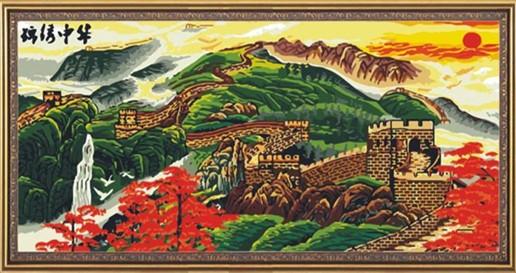 """PH014 ภาพระบายสีตามตัวเลข """"กำแพงเมืองจีนข้ามเขา"""""""