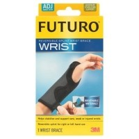 Futuro Wrist อุปกรณ์พยุงข้อมือ ฟูทูโร่ รุ่น 10770 ชนิดปรับกระชับได้ เสริมแถบเหล็ก 1ชิ้น (สีดำ)