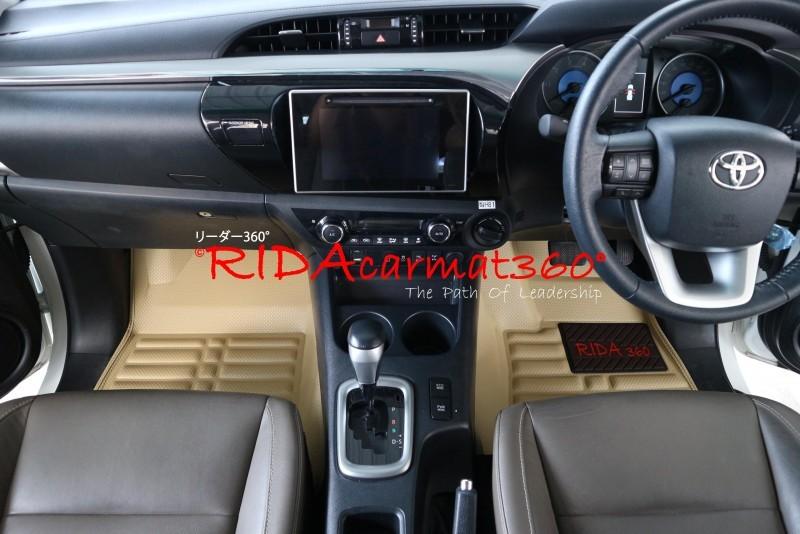 พรมปูพื้นรถยนต์ REVO CAB สีครีม BY RIDA CAMAT 360