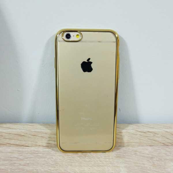 เคสไอโฟน 6 พลัส/6s พลัส ยางขอบทอง