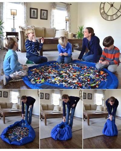 โล๊ะสต็อก Toy Mat And Storage Bag ถุงรูดเก็บของเล่น นั่งเล่นได้อย่างเป็นระเบียบ ความกว้าง 150 ซม. มี 2 (ต้องใส่ของเล่นให้มีน้ำหนักถึงรูดได้นะคะ)