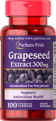 Puritan's Pride - Grapeseed Extract 300 mg 100 Capsules