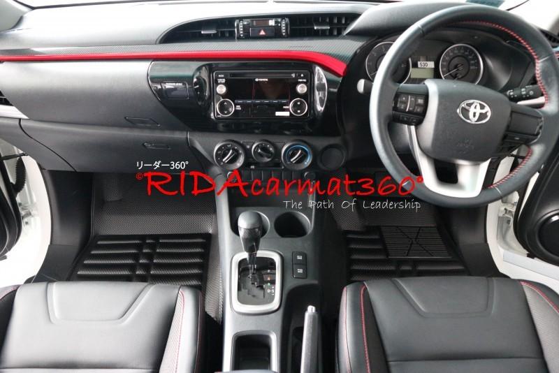 พรมปูพื้นรถยนต์ REVO CAB สีดำ BY RIDA CAMAT 360