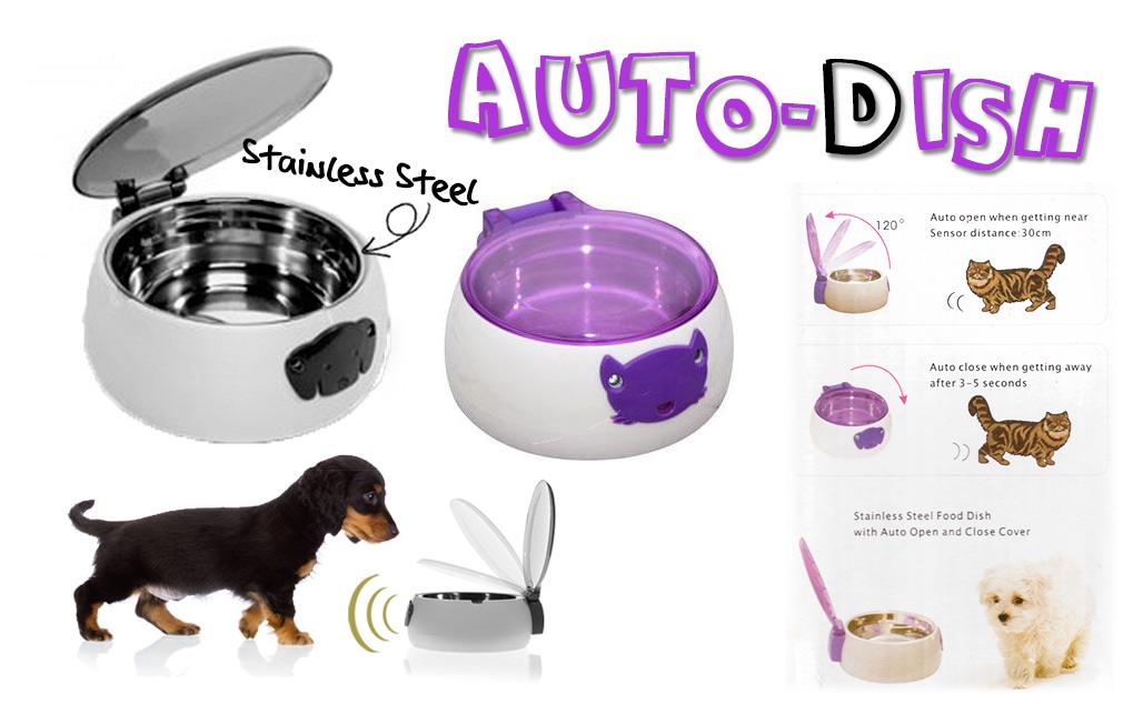 Auto-Dish ชามใส่อาหาร-น้ำเปิดปิดฝาอัตโนมัติ