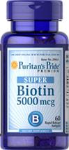 Puritan's Pride - Super Biotin 5000 mcg 60 Softgels