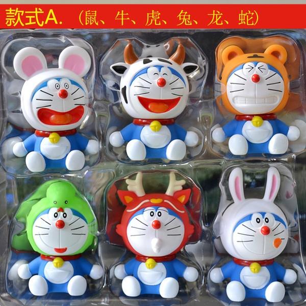 [Preorder] โมเดล Doraemon 1 เซ็ทมี 6 แบบ (Version 1)A Dream car Decoration doll Zodiac robot cat cartoon car accessories Tanabata Valentine's Day gift