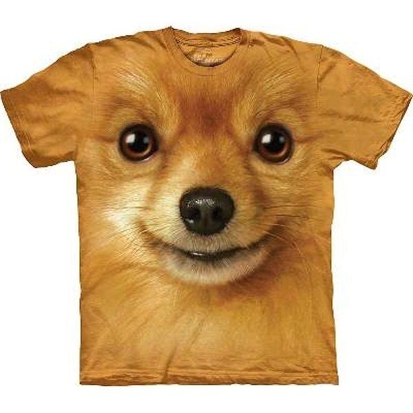 The Mountain Big Face Pomeranian Dog T-Shirts