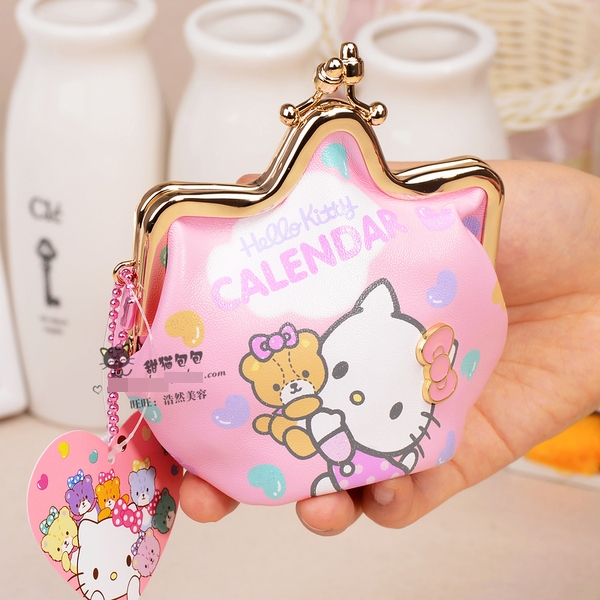 [Preorder] กระเป๋าใส่เหรียญ Hello Kitty แบบที่ 7 (2 ใบ/แพ็ค คละแบบได้) Korean Japanese hello kitty purse Korean cute cartoon fashion ladies bag change clip coins