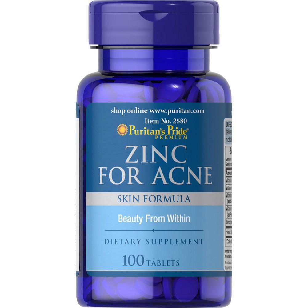 puritan zinc for acne 100 tablets ซิงค์สำหรับรักษาสิว