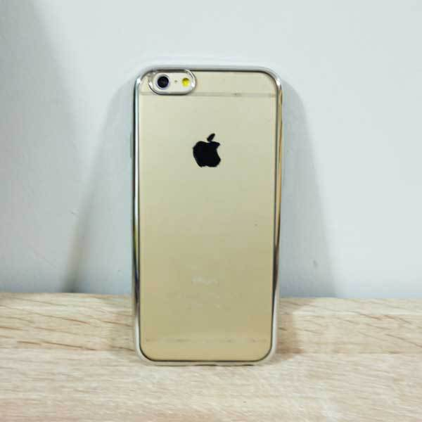เคสไอโฟน 6/6s ยางขอบเงิน