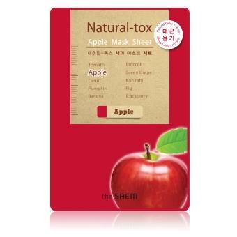 The Saem Natural-tox Apple Mask Sheet มาส์กชีท ที่สกัดจากแอปเปิ้ล ให้ผิวเรียบเนียน กระจ่างใส สำเนา