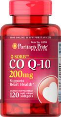 Puritan's Pride - Q-Sorb CO Q-10 200 mg 120 Softgels