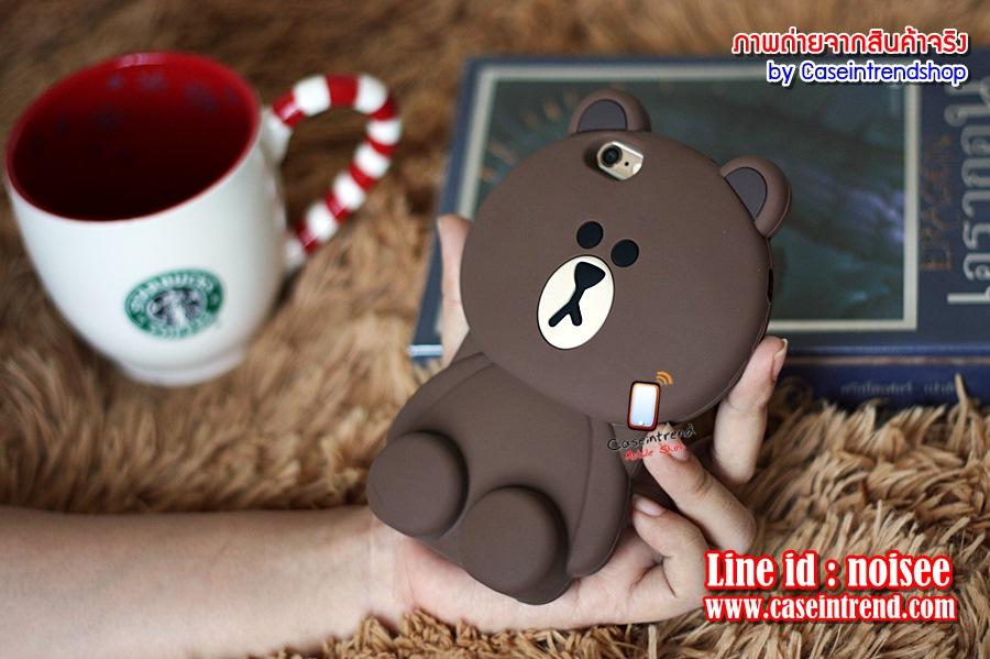 เคส iPhone SE - หมี Brown Line