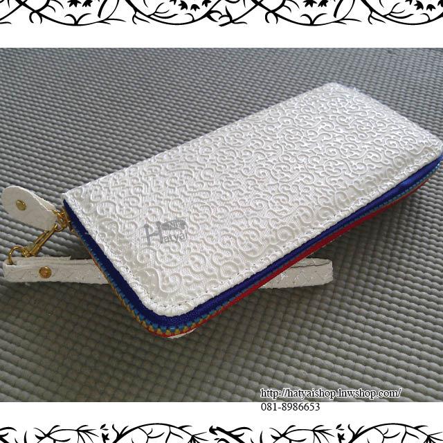 กระเป๋า w015 ลายไทย ขนาด 9x19 cm ไซส์ L