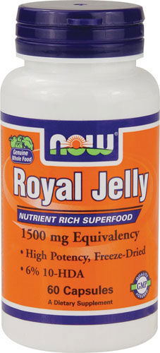 Now Foods - Royal Jelly 1500 mg 60 Capsules