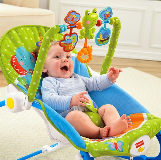 Fisher-Price Infant-to-Toddler Rocker, Elephant Friends