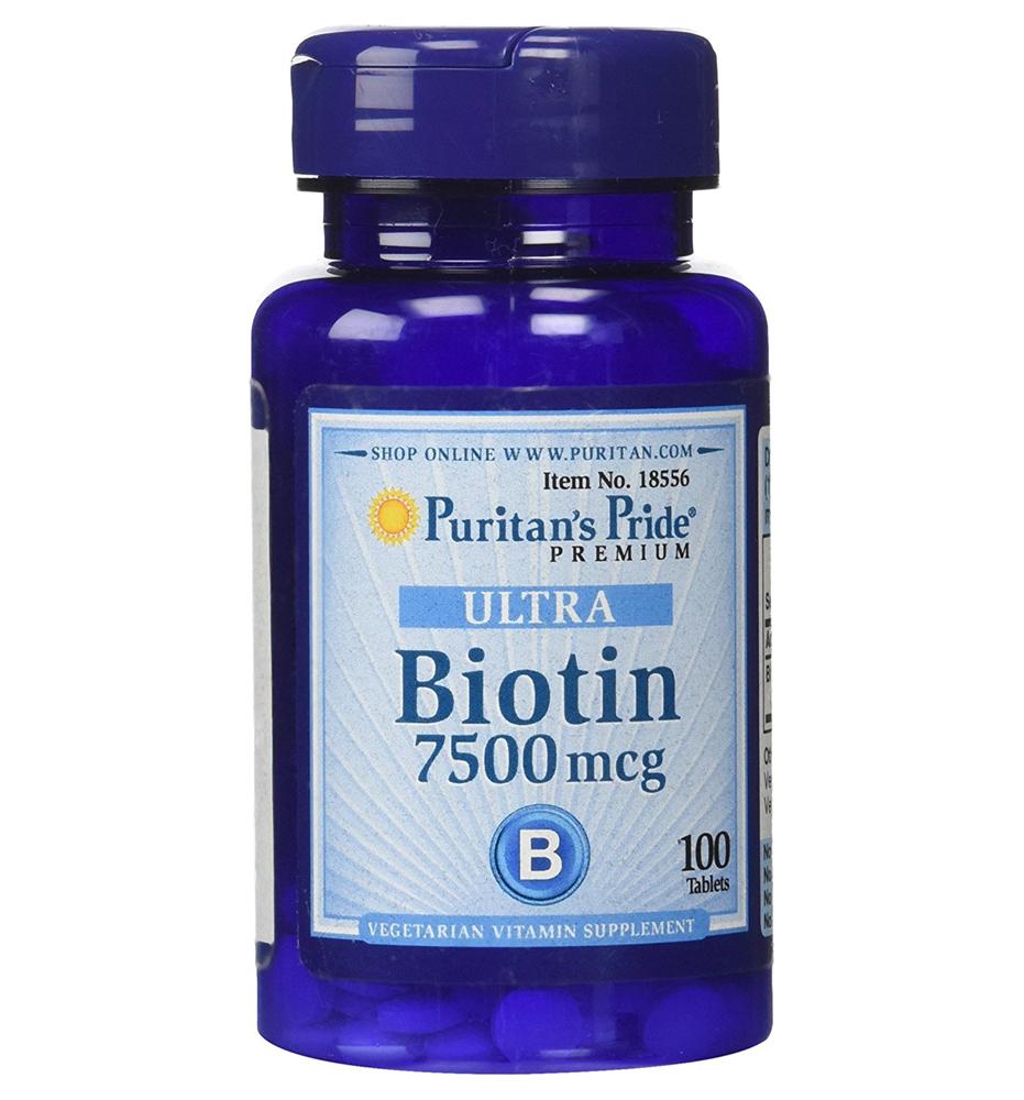 Puritan's Pride Biotin 7500 mcg / 100 Tablets ผลิตภัณฑ์เสริมอาหารไบโอติน (Biotin)