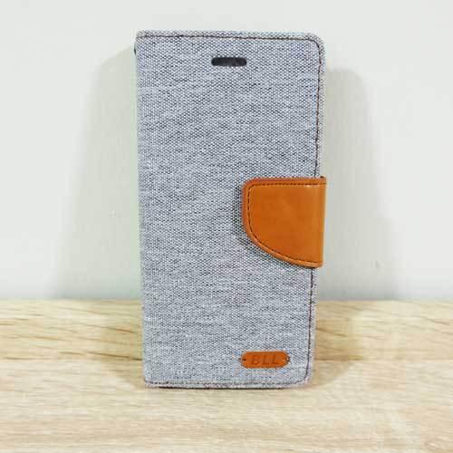 เคสไอโฟน 6/6S ฝาพับ สีเทา