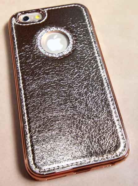 เคสประกบเพชร ไอโฟน6 pinkgold