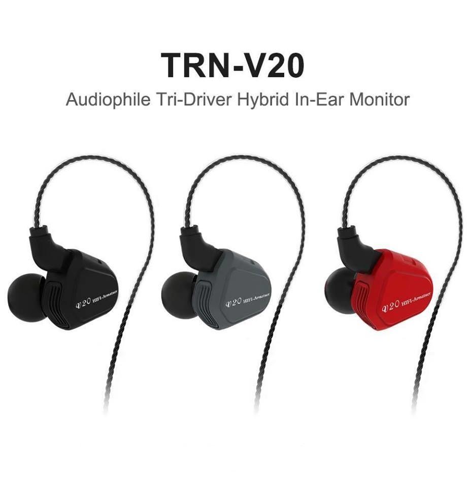 หูฟัง TRN V20 +ไมค์ (Dual Drivers)