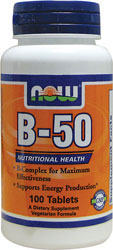 Now Foods B-50 100 Tablets