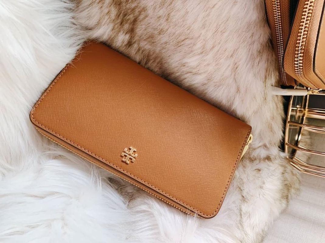 3360b45f5a9 New Tory Burch Emerson Zip Around Continental Wallet Leather Tiger ...
