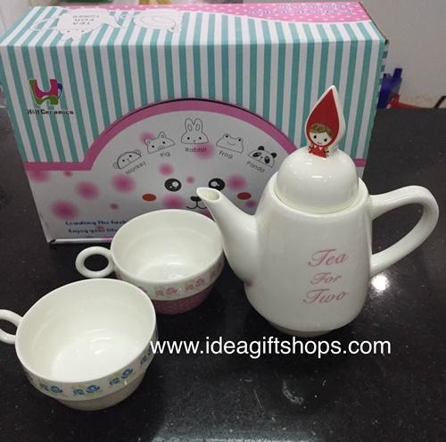 กาน้ำชา ลายเด็กผู้หญิง Tea for Two (ซื้อ 3 ชุด ราคาส่งชุดละ 320 บาท)