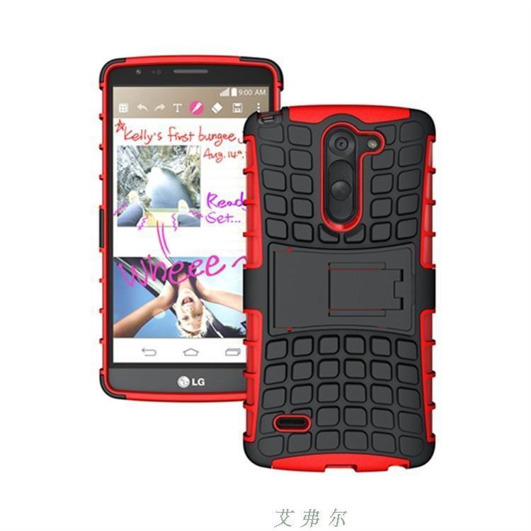 (002-099)เคสมือถือ Case LG G3 Stylus เคสพลาสติกกันกระแทกรุ่นขอบสี