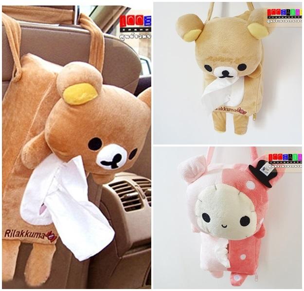 (301-001)กล่องกระดาษทิชชูหมีน่ารักๆ